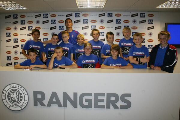 The Rangers Residential Camp go on a tour of Ibrox