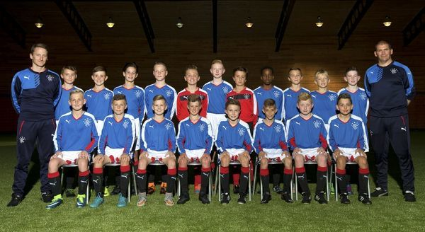 Rangers U12 - (back row left - right) Alan Sharp, Harley Ewan, Sam Lovie, Robbie Ure, Leon King, Aiden McArthur, Logan Dunnachie, Jack McConnell, Dire Mebude, Kelsey Ewan, Ciaran Heeps, McKenzie Kirk, Jim McNee     front tow left - right) Leyton Dunlop