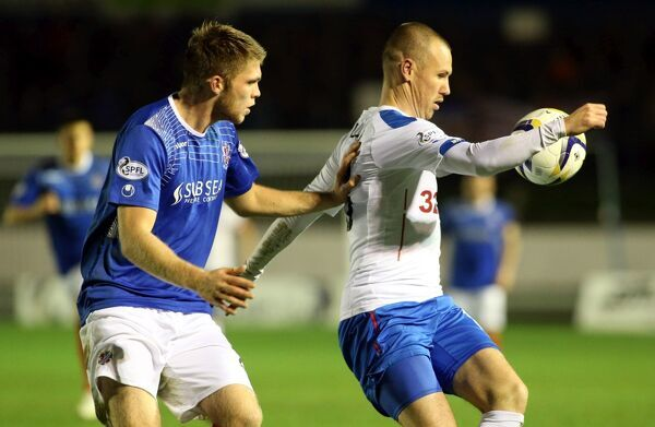 Rangers' Kenny Miller (right) in action