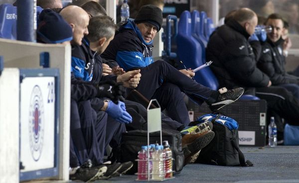 Rangers caretaker manager Kenny McDowall during the Scottish Championship match at Ibrox Stadium