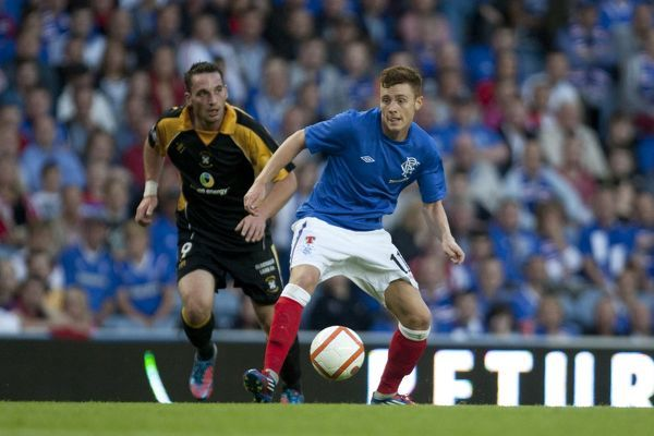 Rangers' Lewis Macleod and East Fife's Gareth Wardlaw