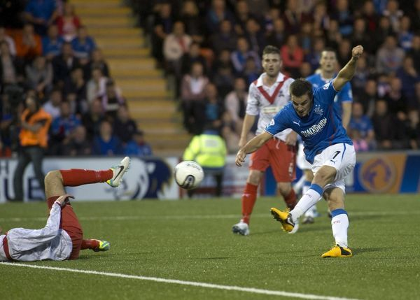 Rangers' Andy Little fires in the second goal