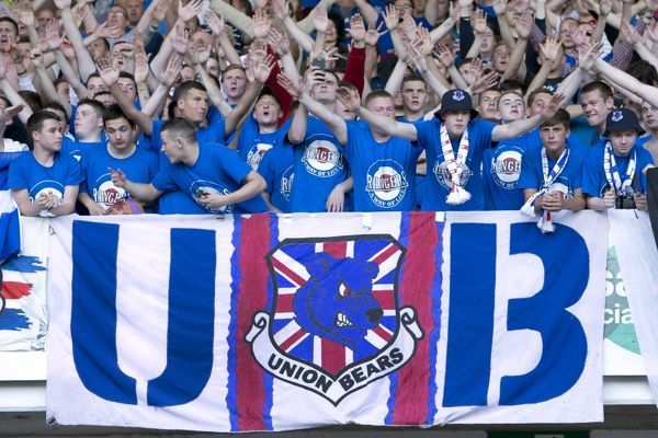 Rangers fans in the stand