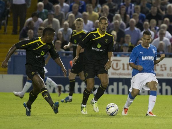 Rangers' Arnold Peralta in action