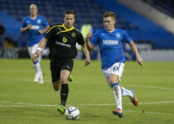 Rangers' Lewis Macleod in action