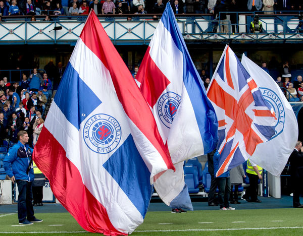 Rangers flag bearers