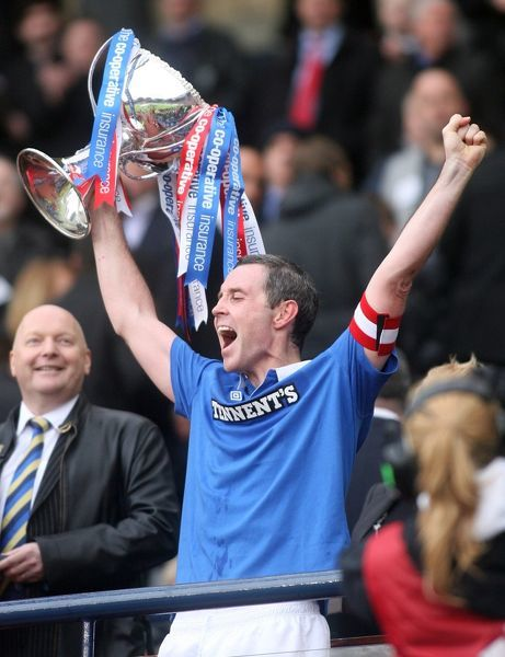Rangers' David Weir with the League Cup