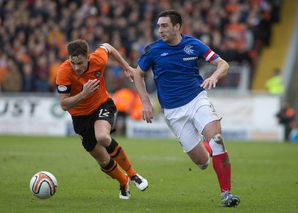 Rangers' Lee Wallace and Dundee United's Keith Watson