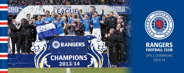 A hand made box canvas celebrating becoming SPFL1 Champions Product size is 20x8&quot