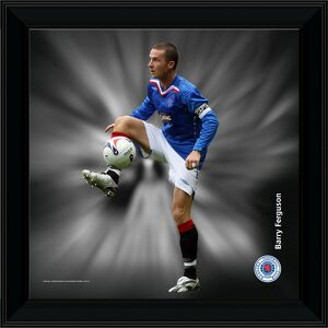 "12x12"" (305x305mm) Barry Ferguson Framed Dynamic Action Print"