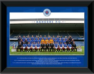 "2008/9 Season Rangers Team Photo 16""x12"" Framed Print"