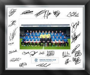 2014/15 Team Signed Framed Photo