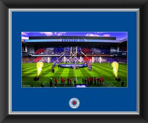 Flag Unfurl At Ibrox, Celebrating A World Record 54 Titles