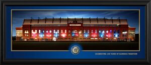 Ibrox at Night Framed Panoramic