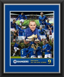 Kris Boyd Top Goal Scorer Framed Celebration Montage