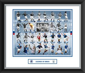 Legends of Ibrox Framed Mounted Photographic Print
