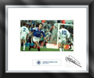 Mark Hateley signed and mounted print