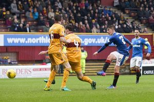 Motherwell 0-2 Rangers (Selection of 52 Items)