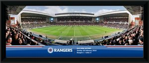 Old Firm Victory Framed Panoramic Print