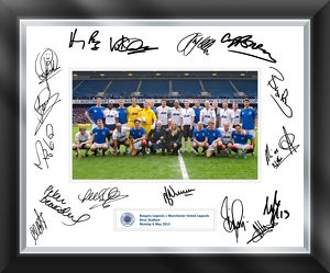 Rangers Legends Signed Mounted Framed Print