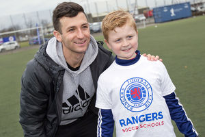 trophies/scottish cup winners 2003/rangers players visit easter soccer school ibrox