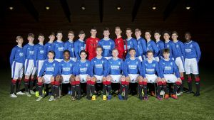 Rangers U17 Team Picture - The Rangers Football Centre
