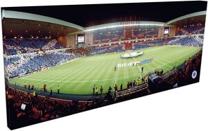 RNGR110 - Rangers v Inter Milan 'Union Jack' Flags, 900x350mm Panoramic Canvas