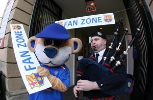 Soccer - Rangers and Barcelona Fans at the Fanzone - City Hall - Glasgow