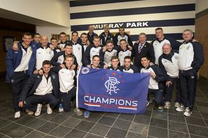 Soccer - Rangers Scottish Irn Bru third Division Winners Celebrations - Murray Park