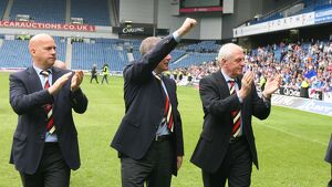 Soccer - Rangers Team Arrive At Ibrox after playing in the UEFA Cup Final-